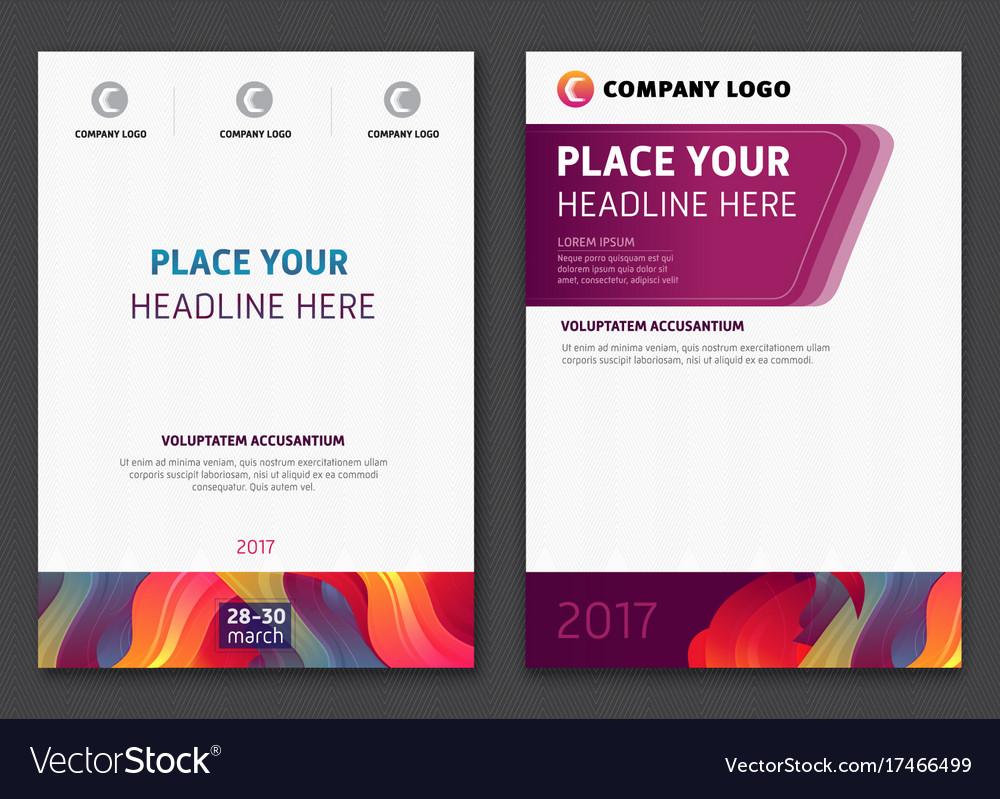 Multipurpose report cover vector image