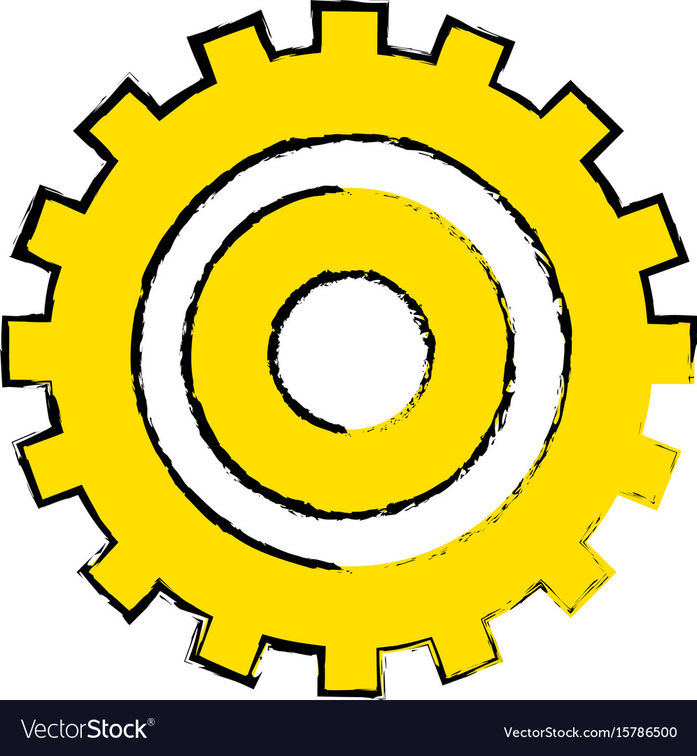 Industry gear to process engineering vector image