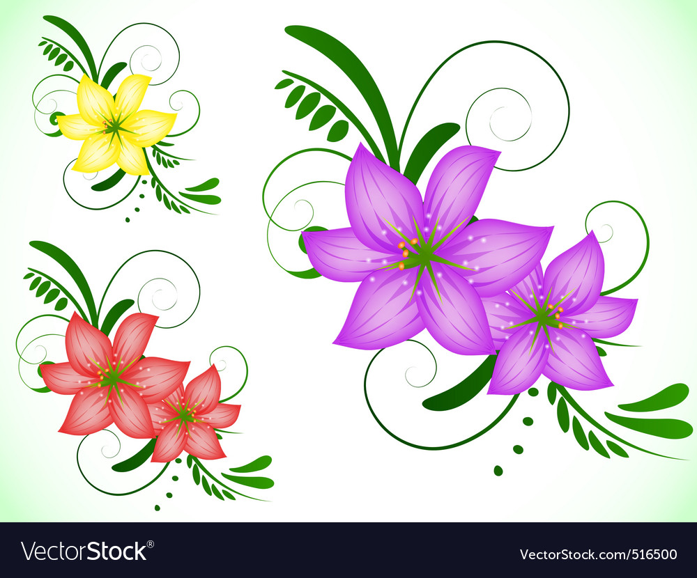 Lily flower royalty free vector image vectorstock lily flower vector image dhlflorist Images