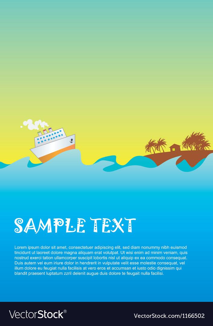 Sea 01 vector image