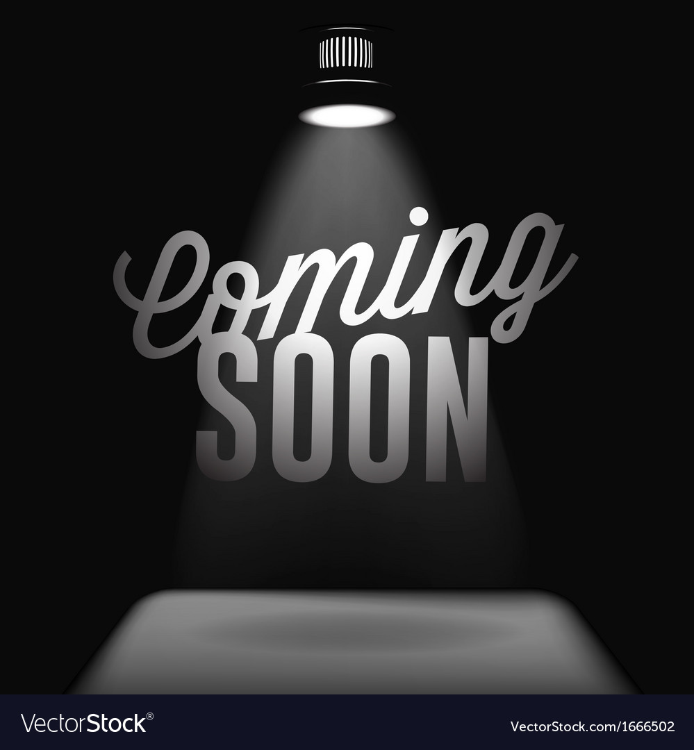 Coming soon sale poster vector image