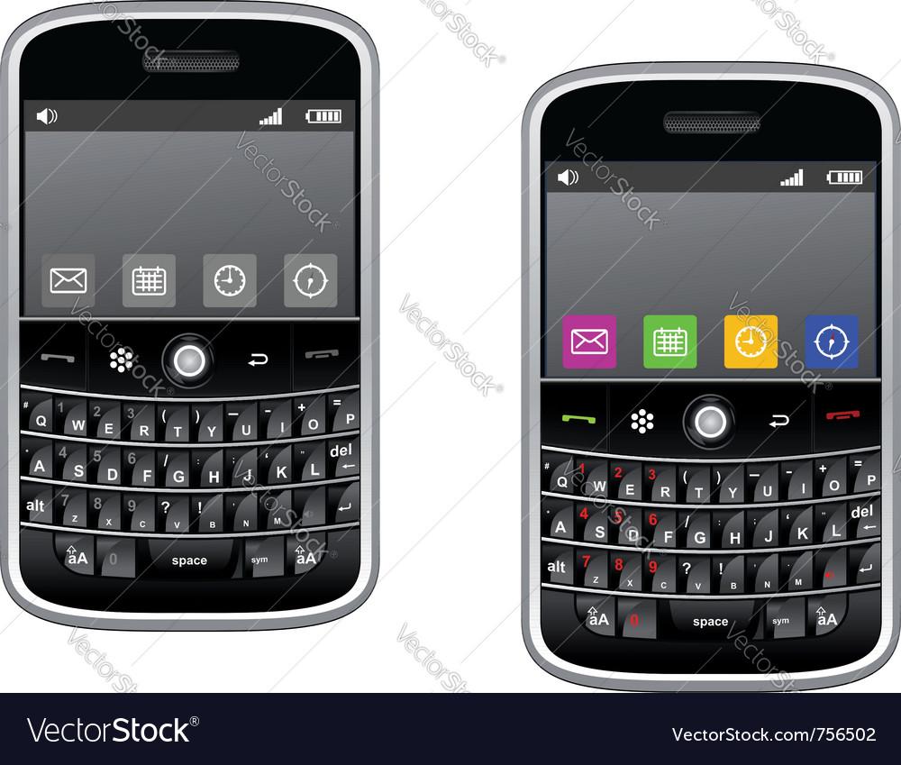 Modern multimedia smartphone vector image