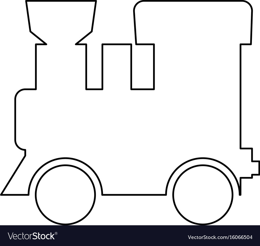 Steam locomotive - train black color path icon vector image