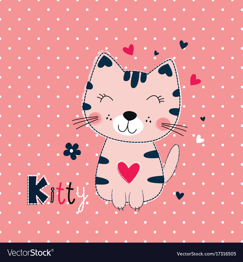 funny cat for kids design royalty free vector image