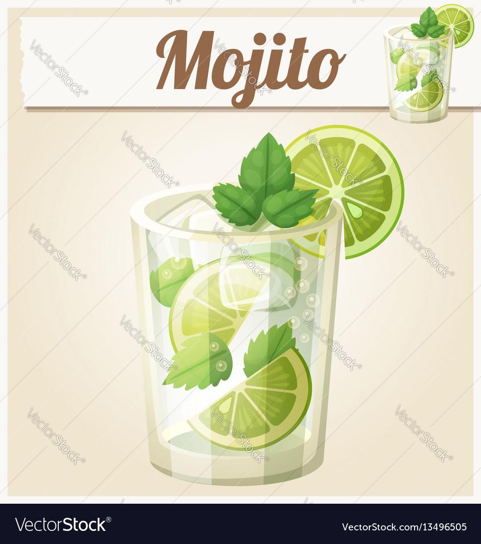 Mojito cartoon icon vector image