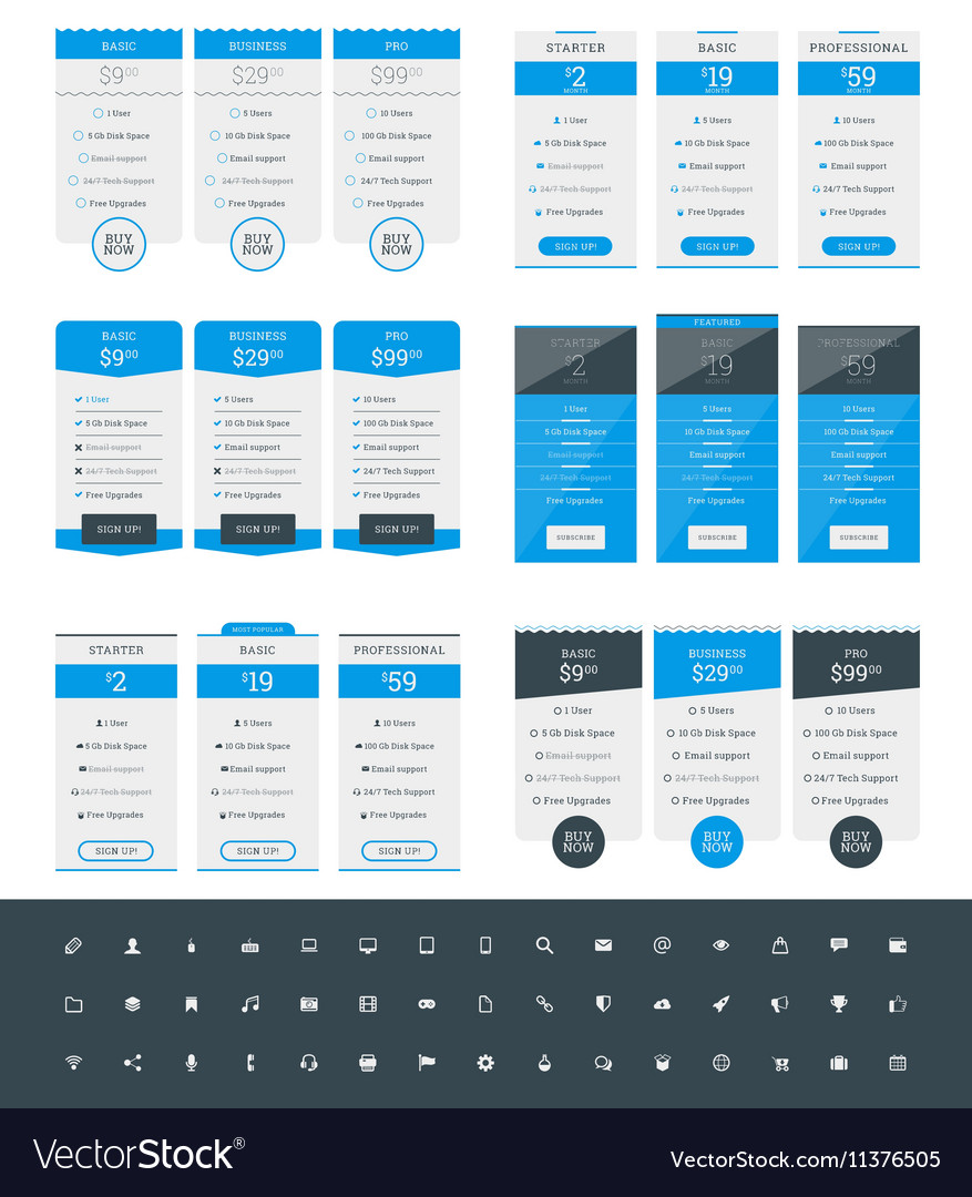 table website templates