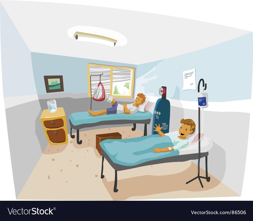Hospital room vector image