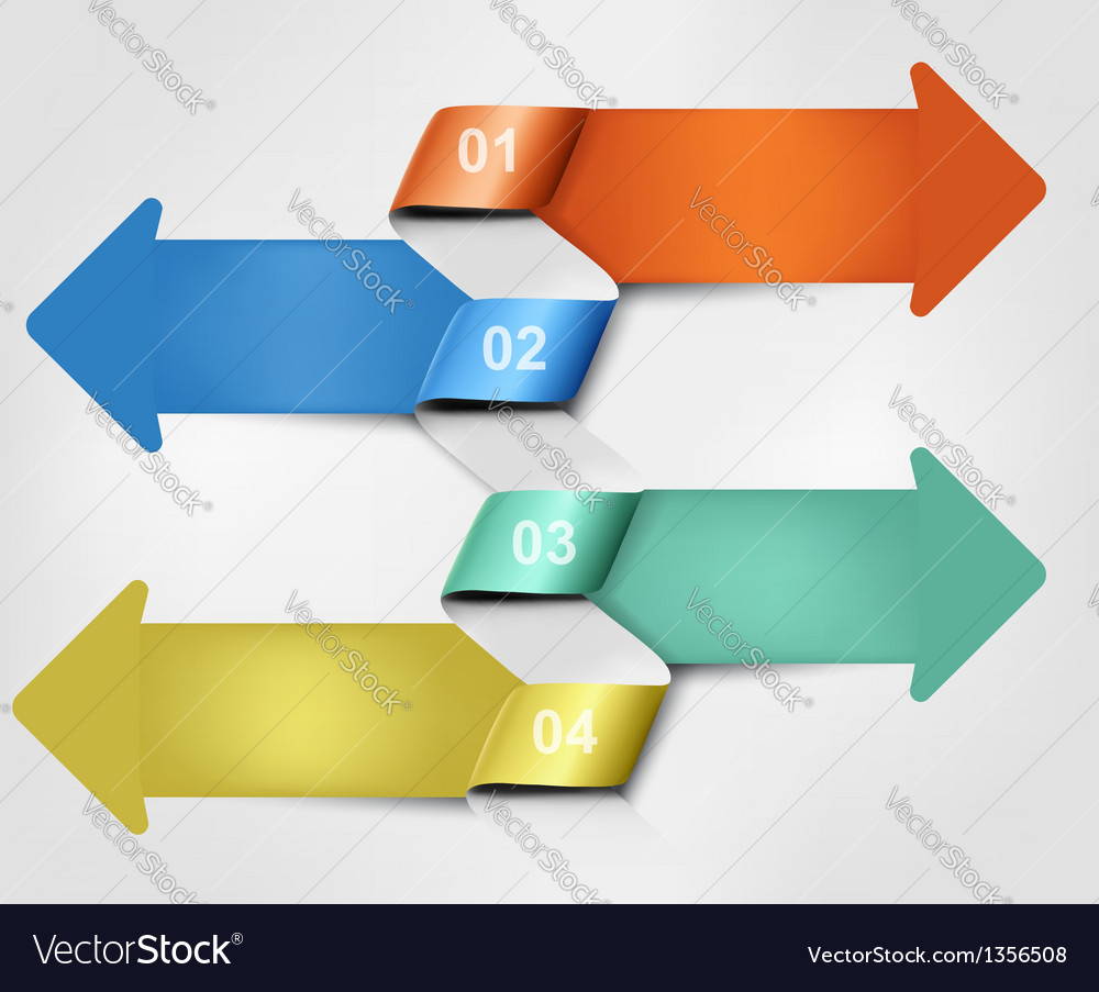 Set of info graphics banners vector image