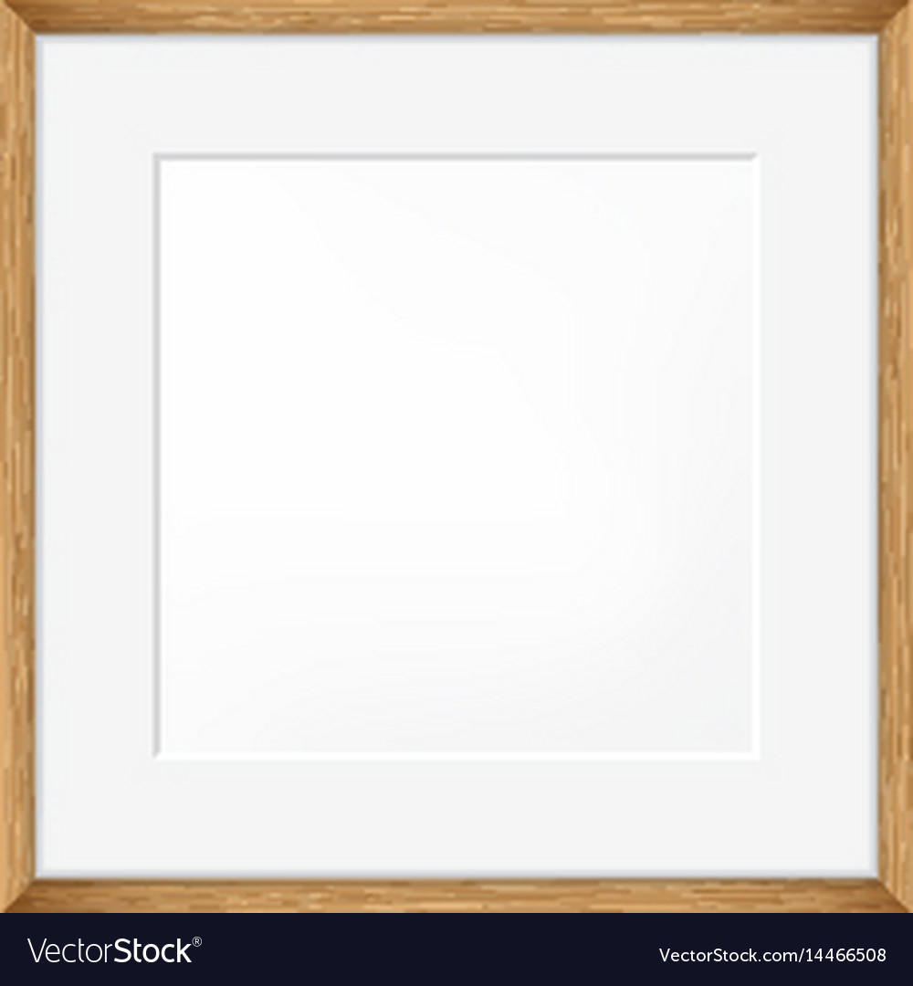 Square blank picture frame template vector image