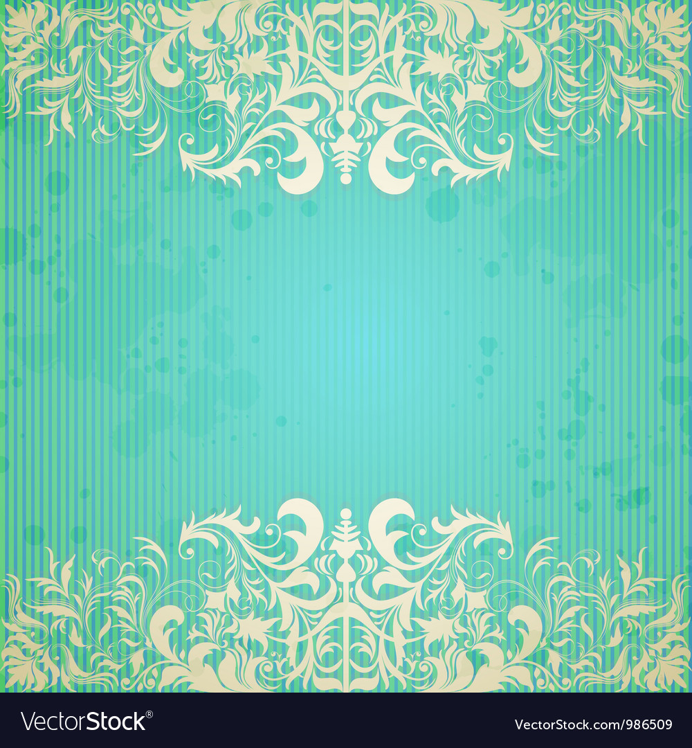 Vintage frame and grungy paper for design vector image