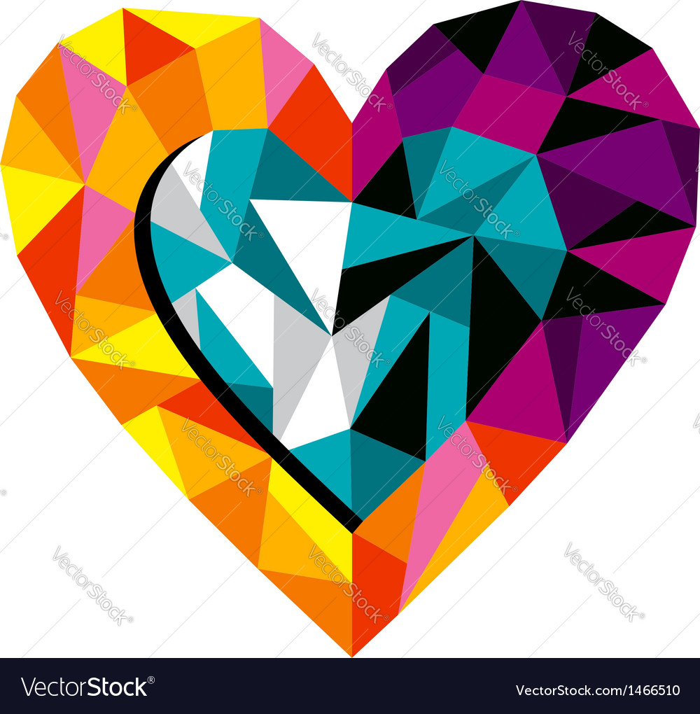 Origami Love Heart vector image