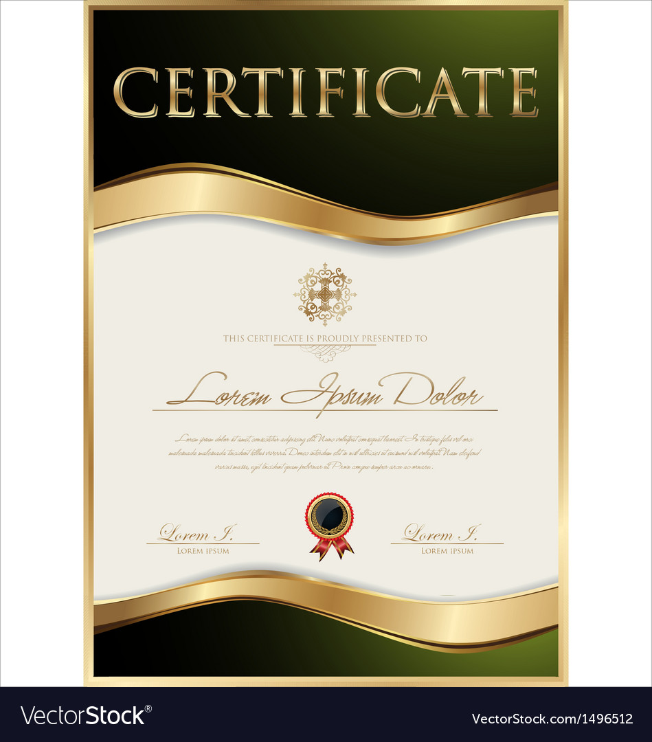 Elegant certificate template royalty free vector image elegant certificate template vector image xflitez Image collections