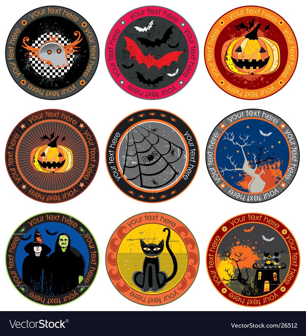 Halloween drink coasters vector image