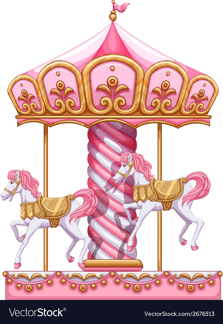 A Carousel Ride Royalty Free Vector Image