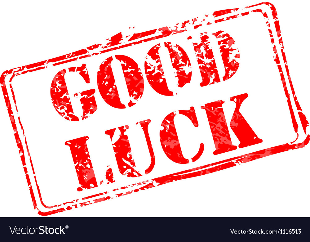 Good luck rubber stamp vector image