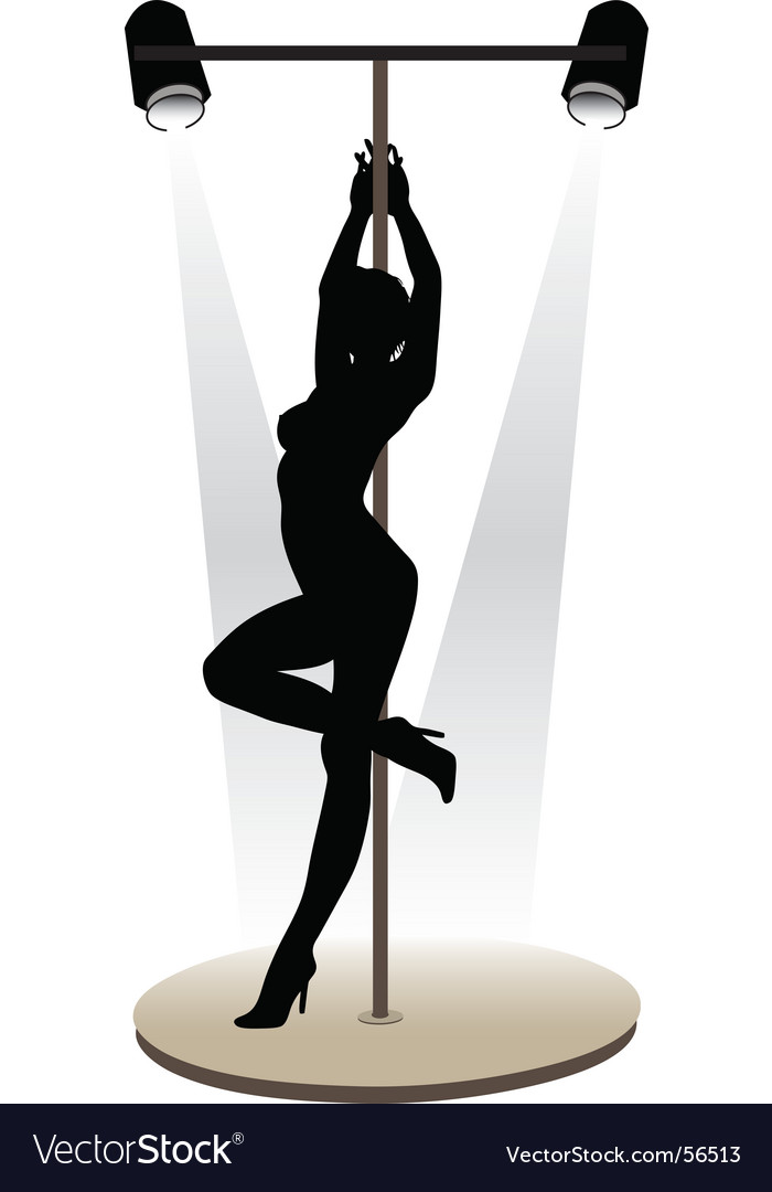 Striptease vector image