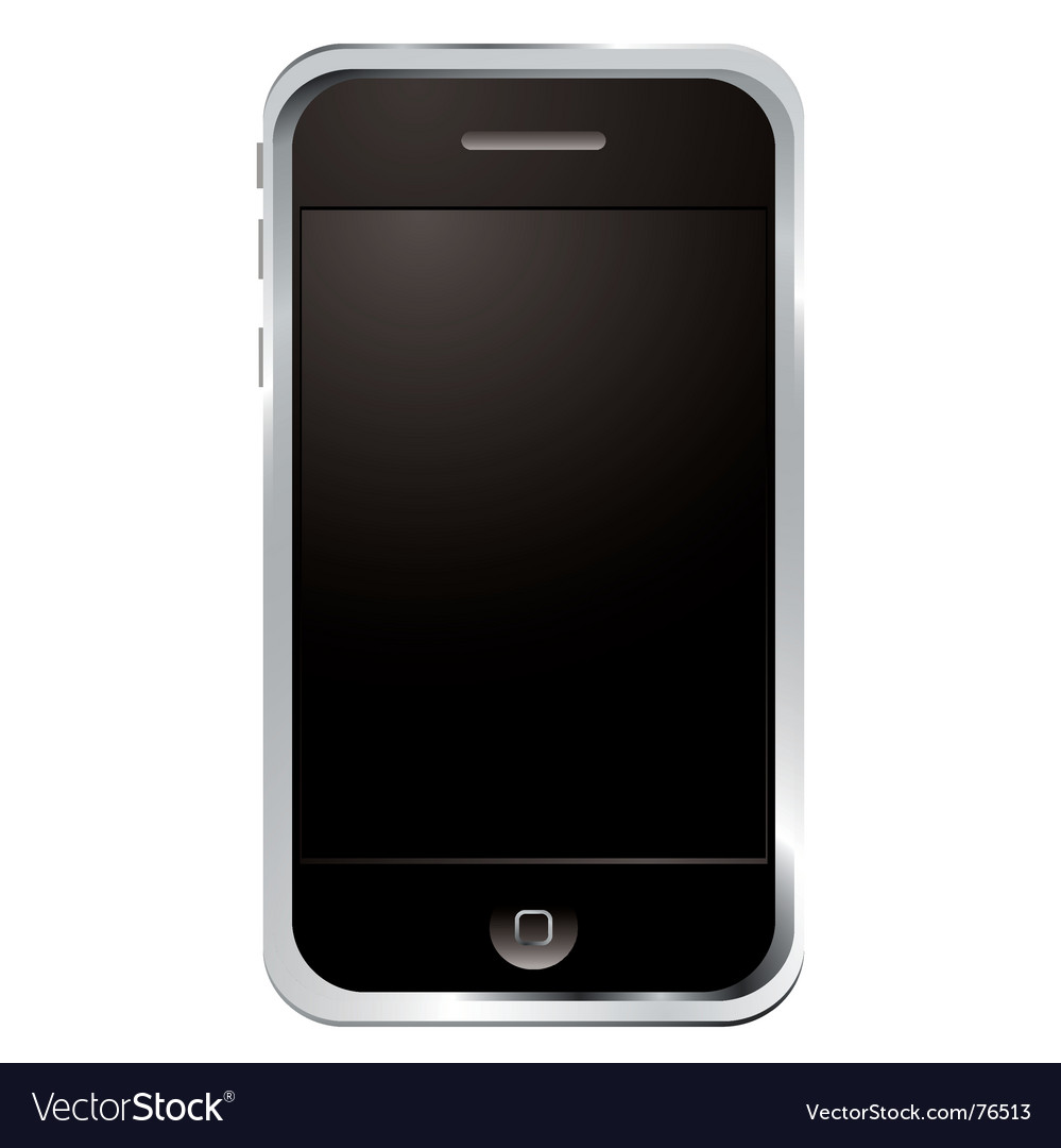Techno phone vector image
