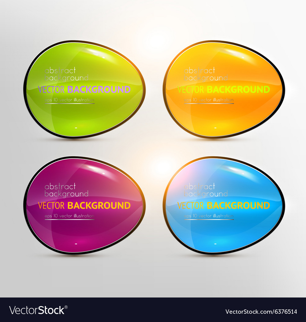 Bright Button Design Set vector image