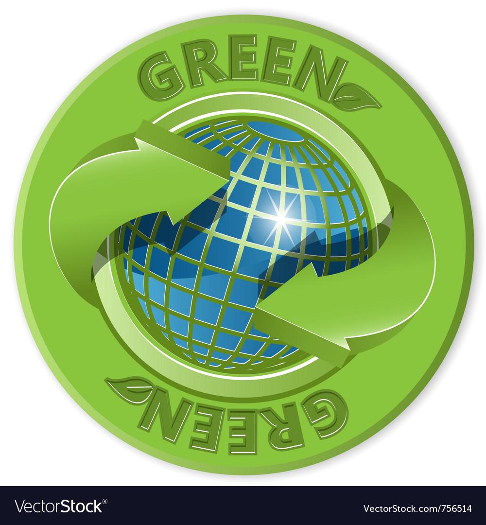 Eco green label vector image