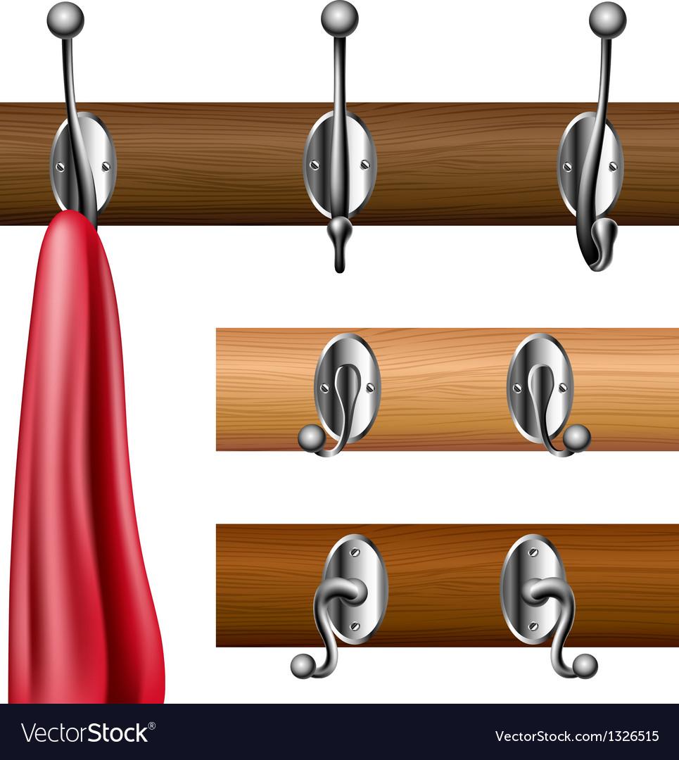 Coat rack set vector image