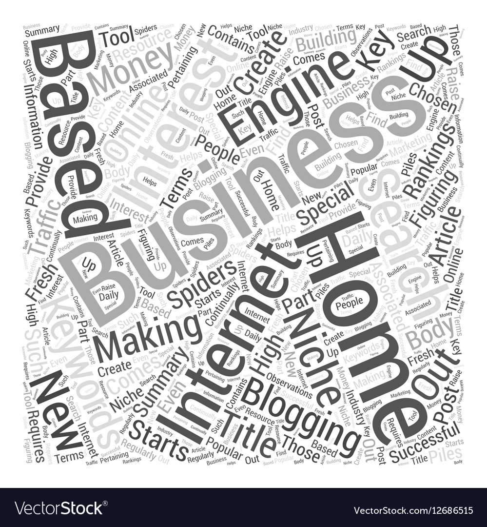 How To Create a Home Based Internet Business Word Vector Image
