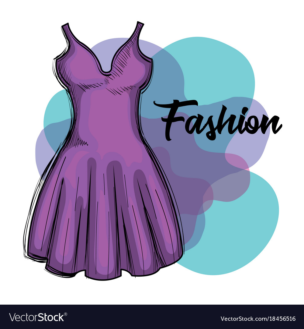 Female fashion dress icon vector image
