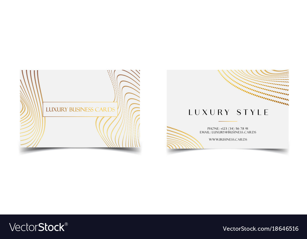 White gold luxury business cards for vip event Vector Image