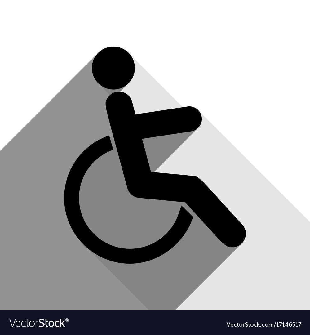 Disabled sign black icon vector image