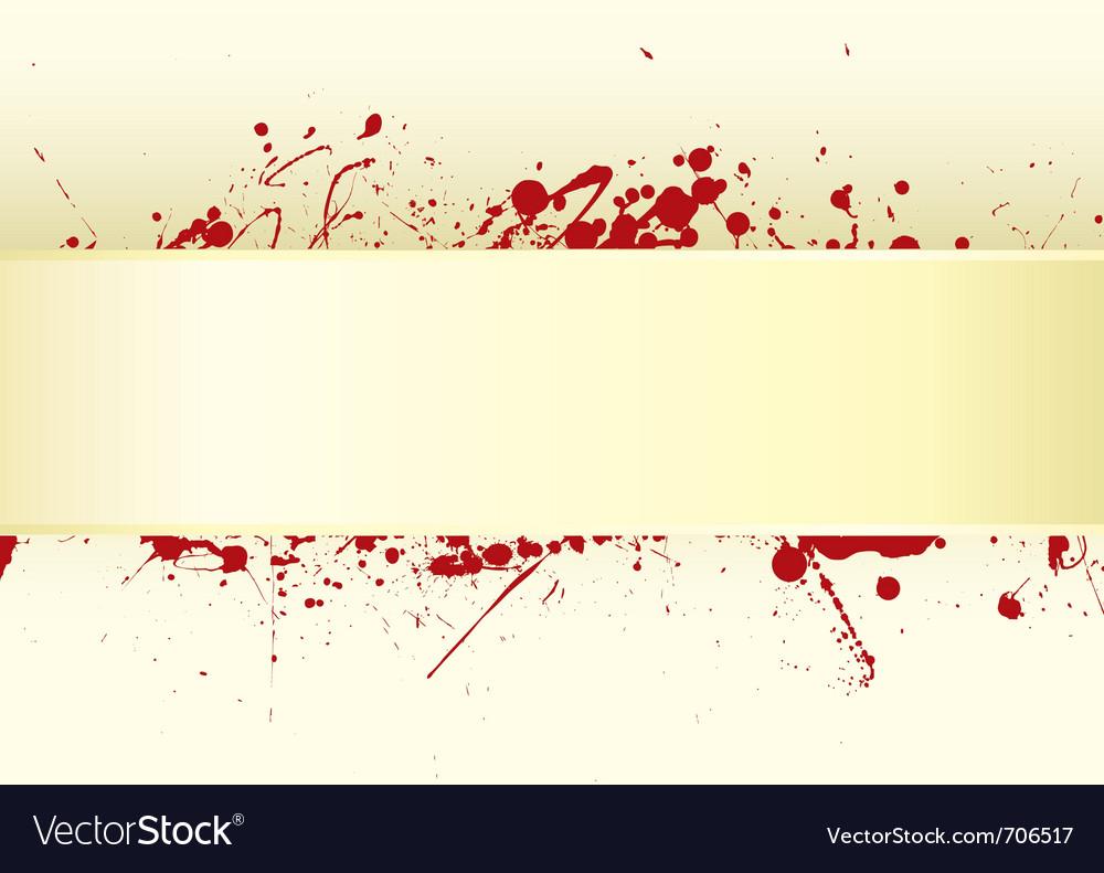 Grunge inspired blood splat vector image