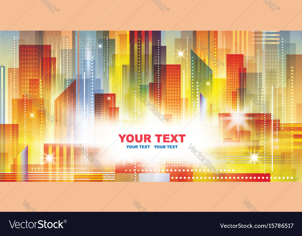 Night city background vector image