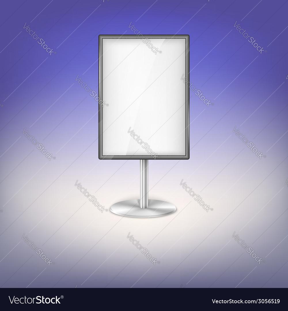 Advertising board vector image