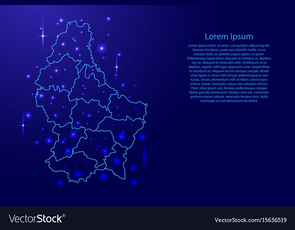Map luxembourg from the contours network blue vector image