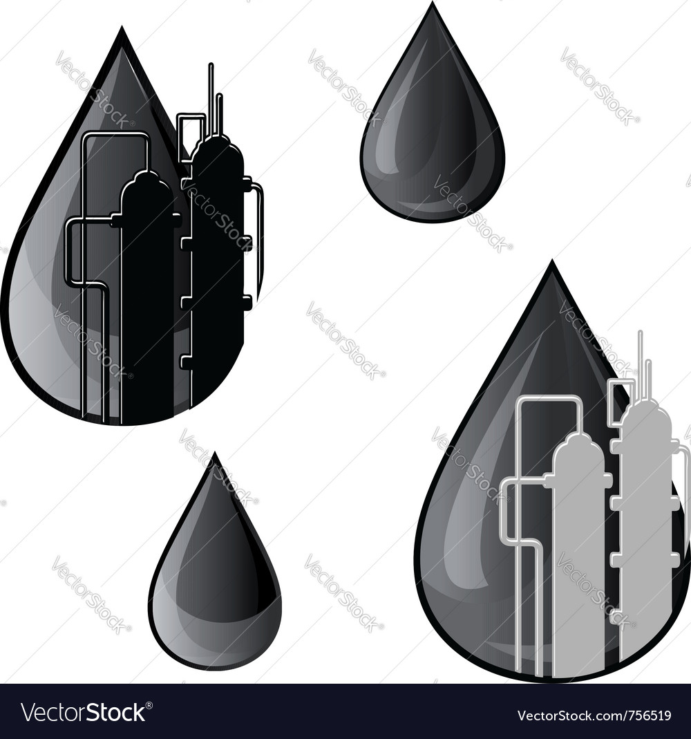Oil and gasoline symbols vector image