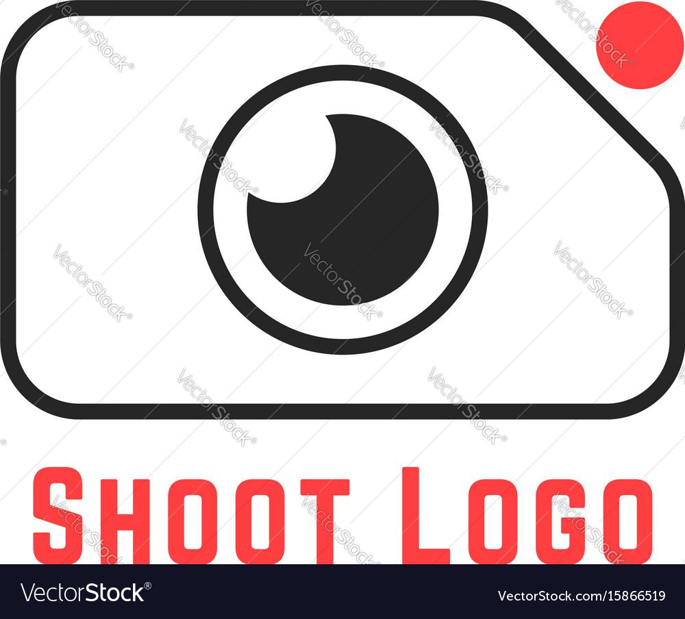Thin line simple shoot logo vector image