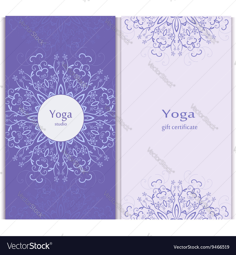 Yoga gift certificate template royalty free vector image for Yoga gift certificate template free