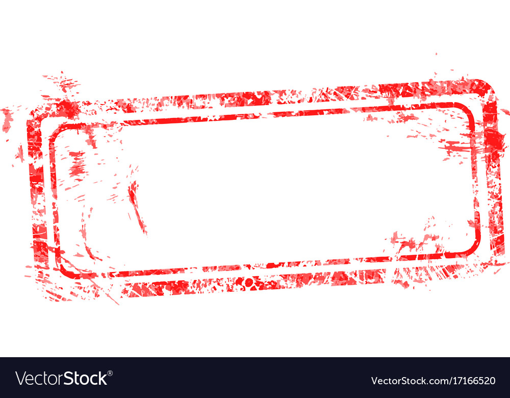 Blank red used business grunge stamp vector image
