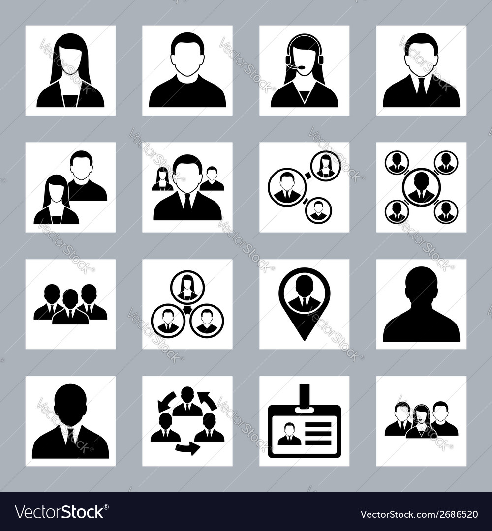 Human resource office people and management icons vector image
