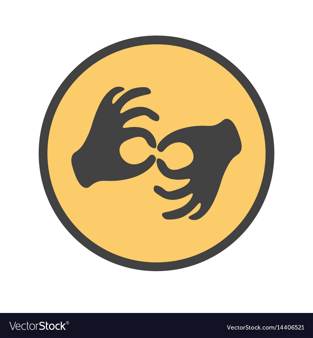 Hands showing the deaf gesture vector image