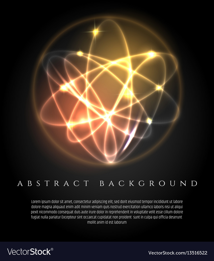 Glowing background with 3d lights ball vector image