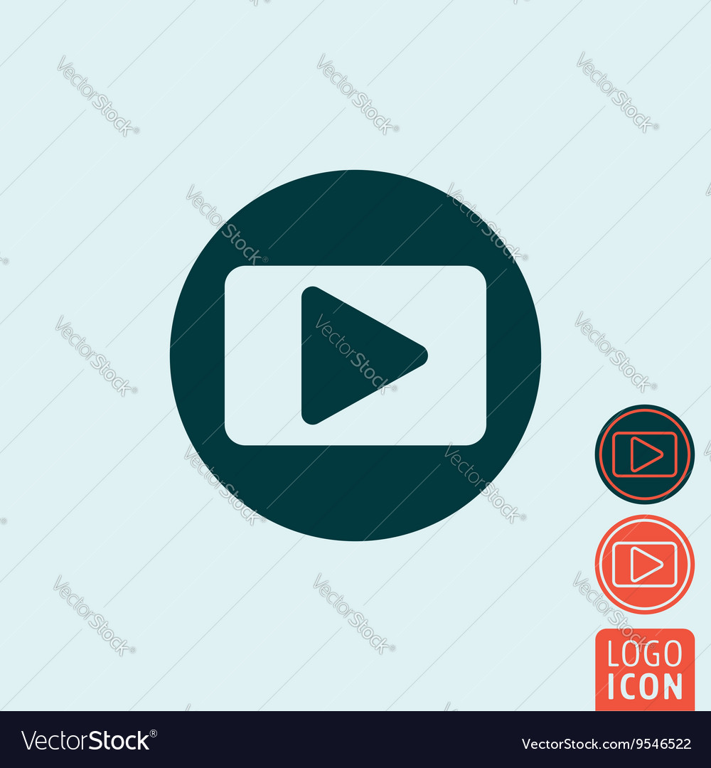 Play icon isolated vector image