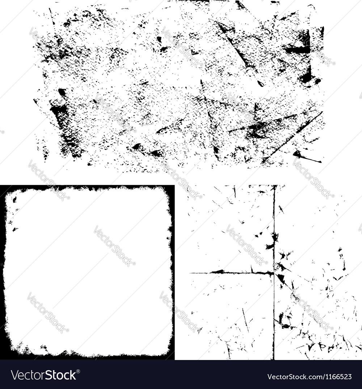 Grunge overlay set vector image