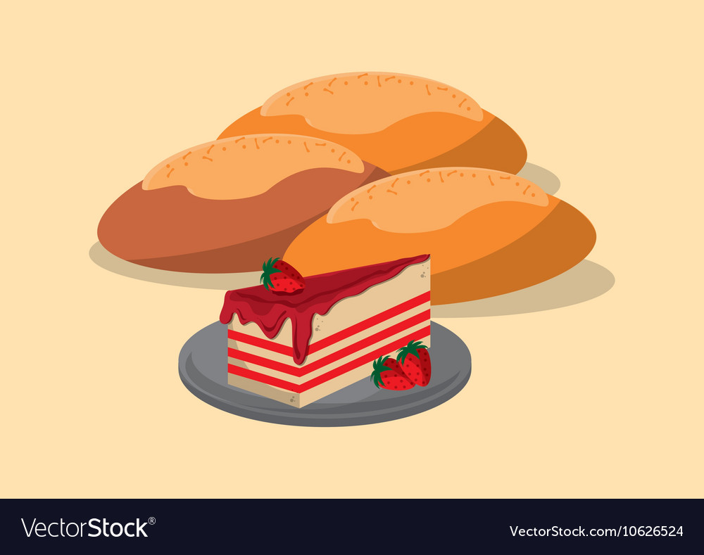 Assorted pastry image vector image