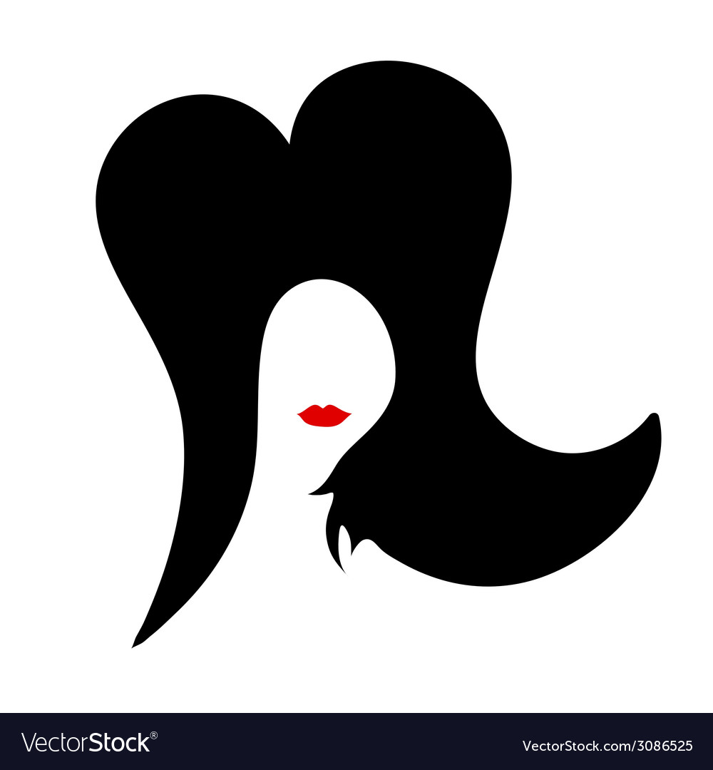 Beauty woman color vector image