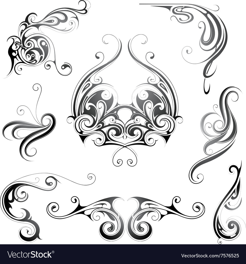 Set of grphic design elements vector image