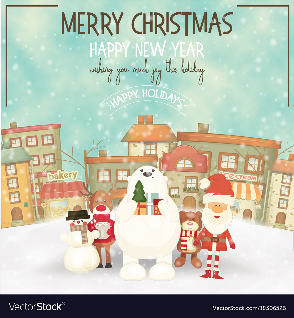 Merry christmas greeting card royalty free vector image merry christmas greeting card vector image kristyandbryce Choice Image