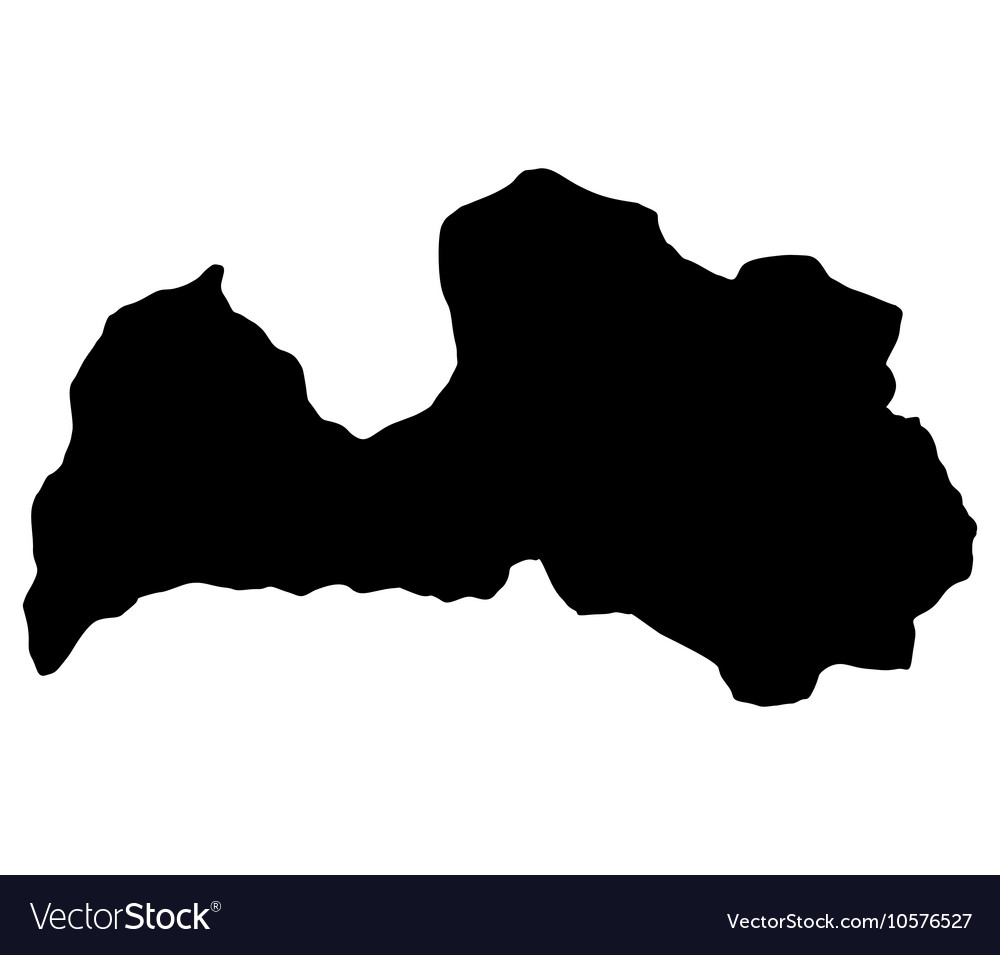 Map of Latvia vector image