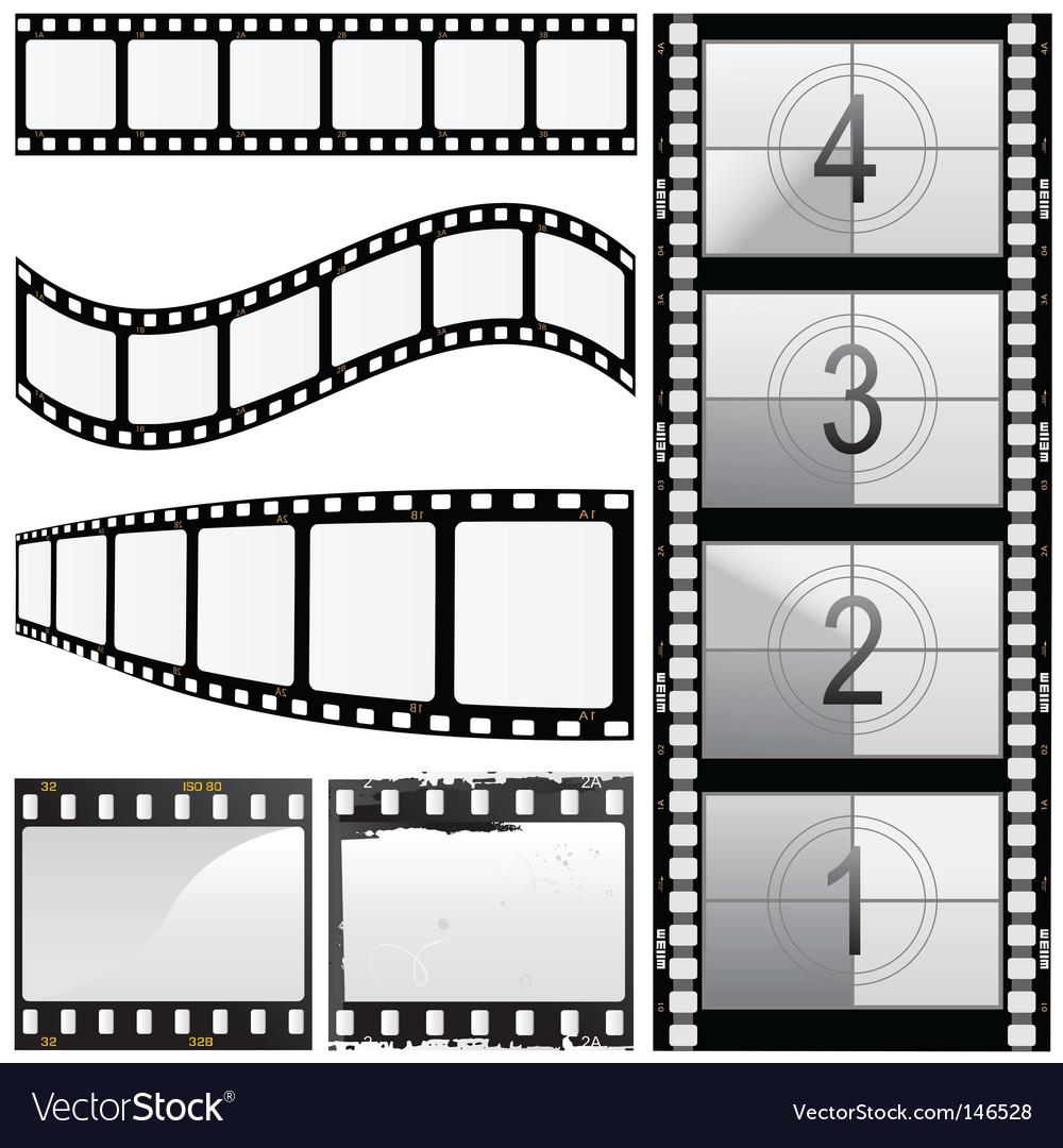Set of film vector image