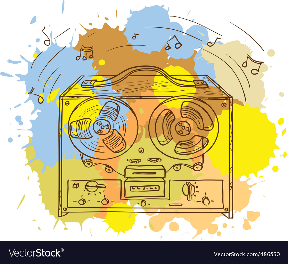 Musical player vector image