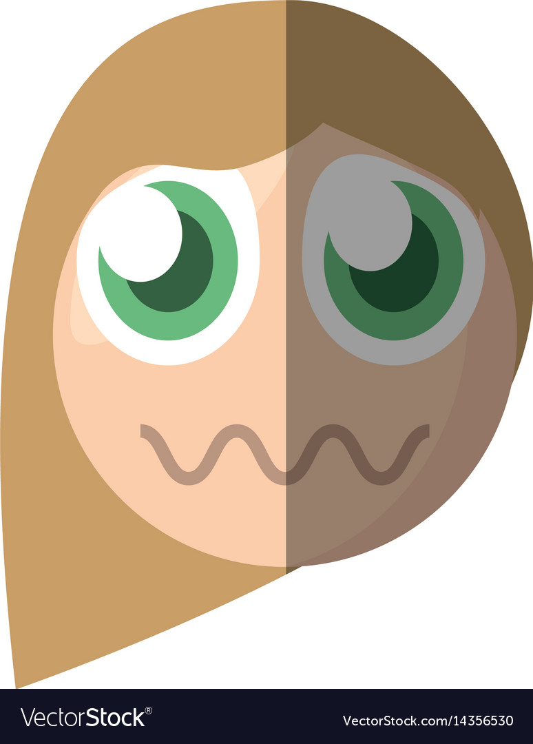 Emoticon sad cartoon design vector image
