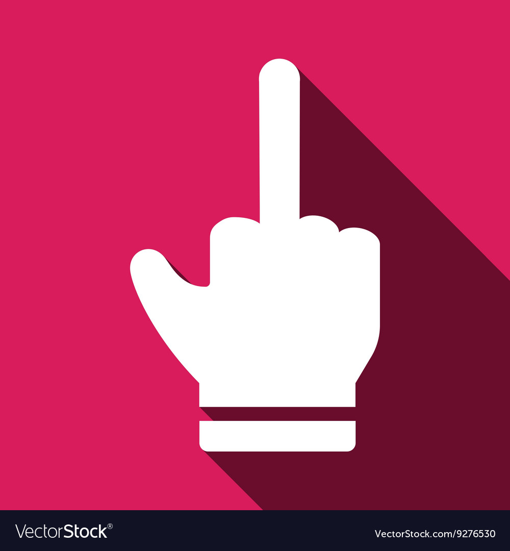 Rude hand sign icon vector image